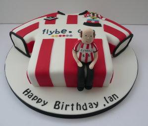 Saints shirt cake and fan