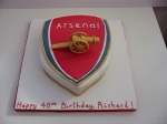 Arsnel logo cake